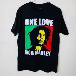 Zion rootswear bob marley black t-shirt sz medium